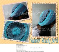 Summer Slouchy Beret Protect your hair from the sun this summer with this slouch beret. This is made from 100% cotton, so it's breathable and perfect for your summer getaway. *Color may vary from the actual item due to lighting and camera quality. #Slouchberet #Slouchyberet #Beret #Crochetberet #Crochetslouchberet #Beanie #Slouchybeanie #Crochetslouchybeanie #Crochet #Blueberet #Blue #Cottonberet #Handmade #Handcrafted