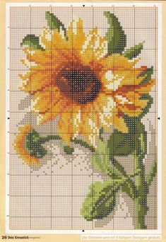Thrilling Designing Your Own Cross Stitch Embroidery Patterns Ideas. Exhilarating Designing Your Own Cross Stitch Embroidery Patterns Ideas. Counted Cross Stitch Patterns, Cross Stitch Charts, Cross Stitch Designs, Cross Stitch Embroidery, Embroidery Patterns, Hand Embroidery, Sunflower Pattern, Cross Stitch Flowers, Cross Stitching