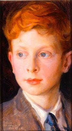 Philip de László, portraits of his five sons; son #4 -- Patrick David de László (1909-1980). Painted in 1918.