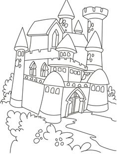 Castle And Princess Coloring Pages from category. Find out more awesome printable coloring for your child Castle Coloring Page, Frozen Coloring Pages, Dragon Coloring Page, Princess Coloring Pages, Coloring Pages For Girls, Cartoon Coloring Pages, Coloring Pages To Print, Free Printable Coloring Pages, Colouring Pages