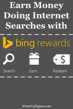 I love easy ways to make money doing things you are doing everyday anyway!  That's why Bing Rewards is awesome. Get paid to do internet searches?? Yes, please!