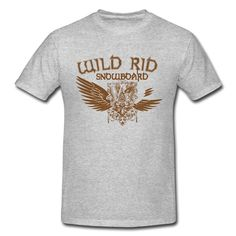 Wild Rid Snowboard Heather Gray Heavyweight T-shirt For Men Online-Sports  Clothing SAVE up to 80% off,Create custom T-shirts at a fantastic price, no minimum quantity. 100% Satisfaction Guaranteed.