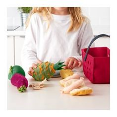 IKEA - LÅTSAS, 11-piece shopping basket set: Encourages role play which helps children to develop social skills by imitating grown-ups and inventing their own roles.
