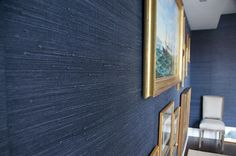 Grasscloth wallpaper-dining room wall