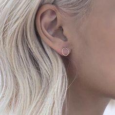 White or Black Earrings Alphabet Earrings Kitsch Emo Initial Letter Studs