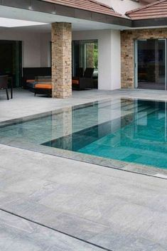 Browse swimming pool designs to get inspiration for your own backyard oasis. Discover pool deck ideas and landscaping options to create your poolside dream. Swimming Pool Landscaping, Small Swimming Pools, Swimming Pool Designs, Outdoor Swimming Pool, Landscaping Ideas, Small Pools, Backyard Pool Designs, Small Backyard Pools, Backyard Patio