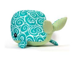 Cotton whale sewing toy kit. $24.00, via Etsy.