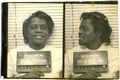 James Brown posed for this South Carolina Department of Corrections mug shot in December 1988 after a jury found him guilty of aggravated assault, weapons possession, and failure to stop for police.