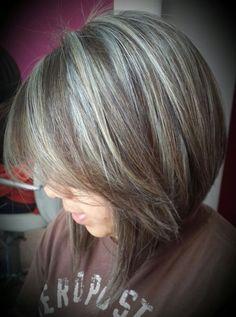 Image result for gray highlights in auburn hair