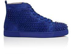 CHRISTIAN LOUBOUTIN Louis Flat Suede Sneakers. #christianlouboutin #shoes #sneakers #christianlouboutinsneakers #christianlouboutinflats