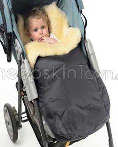 Sheepskin Baby Stroller Snuggle Cover