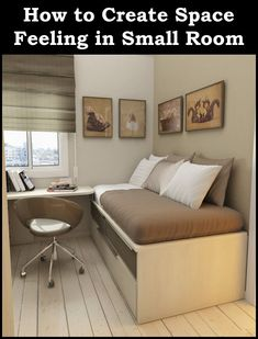 Check Out 30 Space Saving Beds For Small Rooms. A small bedroom can present big design challenges. When there's a depressingly finite amount of square footage to play with, must-haves like a bed and a dresser can be stubborn in their lack of flexibility. Small Bedroom Designs, Small Room Design, Kids Room Design, Big Design, House Design, Closet Designs, Studio Design, Modern Design, Space Saving Bedroom