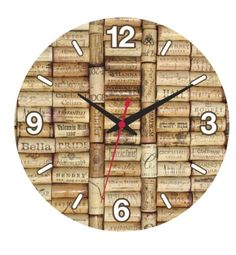 California Wine Country Cork Collage Clock