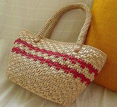 #16 Beach Bag, de Tamami Kido (城戸 珠美). http://www.ravelry.com/patterns/library/16-beach-bag