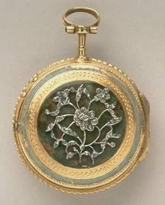 Pocket watch by in a gold case with diamonds and enamel by L'Epine, about 1785. Find out more about our decorative art collections: http://www.liverpoolmuseums.org.uk/walker/collections/decorative-art/