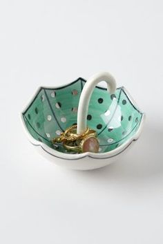 Cute umbrella shaped ring holder for spring. Jewelry holder. Anthropologie. Love. Gift idea at $8.