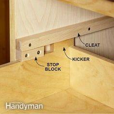 Prevent drawers from falling out