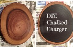 cute idea for tablesetting! delight by design: DIY: Chalked Charger Thanksgiving This Year, Diy Bar Cart, Diy Chalkboard, Do It Yourself Projects, Monet, Home Improvement, Decorative Plates, Diy Projects, Diy Crafts