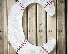 Baseball Decor-Baseball Letters-Baby Boy Nursery Decor-Wood