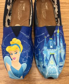 Cinderella Disney Toms by PaintedSlippers on Etsy Sarah needs these!