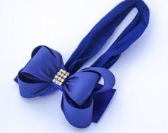 Baby Headband Navy Blue Big Bow Headband Baby Bow Headband