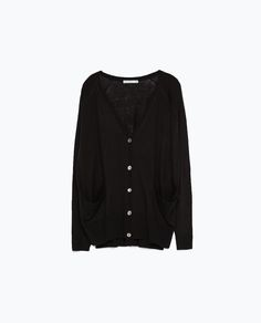 ZARA - COLLECTION AW15 - KNITTED CARDIGAN WITH POCKETS