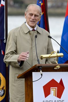 Prince Philip, Duke of Edinburgh attends the renaming ceremony for 'The City Of Adelaide' clipper ship at the Old Royal Naval College on 18.10.13 in Greenwich, England.