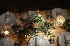 Rosas té, rosas y velas