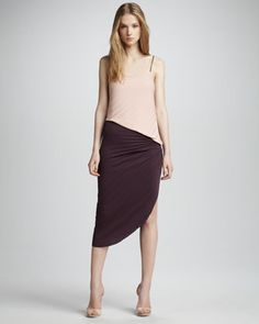 Colorblock Asymmetric Dress by Halston Heritage at Neiman Marcus.