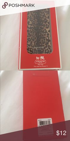 Coach IPhone 5 case New in box. MSRP $38.00. Offers welcome. Be sure to bundle & save! Coach Accessories Phone Cases
