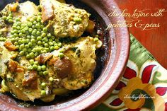 Chicken Tajine with Potatoes and Peas!