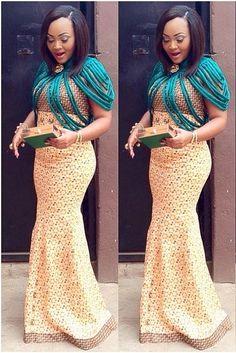 Nigerian Dresses - Actress Mercy Aigbe Looking Good With Ankara Gown - DeZango Fashion Zone