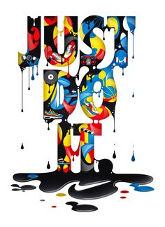 Creative Typography, Nike, and Illustration image ideas & inspiration on Designspiration Nike Wallpaper Iphone, Hype Wallpaper, Graffiti Wallpaper, Cool Wallpaper, Wallpaper Backgrounds, Just Do It Wallpapers, Cool Nike Wallpapers, Typographie Inspiration, Sneakers Wallpaper