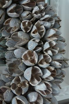 Lovely soft grey-blue hues in dried seeds wreath (?)... just ♥