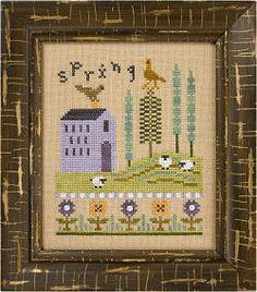 Lizzie Kate - 4 Seasons Flip-It - Spring & Summer - Cross Stitch Patterns