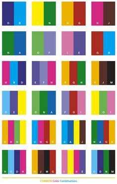 Color Schemes | Common color schemes, color combinations, color palettes for print ...