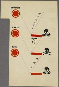 El Lissitzky -  Verso to fourth chapter, pg. 16, in the book Dlia Golosa (For the Voice) by Vladimir Vladimirovich Mayakovsky (Berlin: Gosizdat, 1923)
