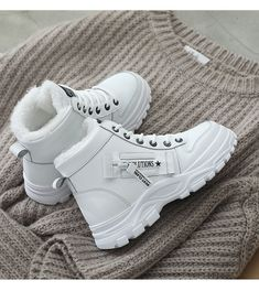Women Winter Snow Boots 2019 New Fashion Style High top Shoes Casual Woman Waterproof Warm Woman Female High Quality White Black-in Ankle Boots from Shoes on AliExpress Ankle Shoes, Black Ankle Boots, Top Shoes, Casual Sneakers, Casual Shoes, High Top Sneakers, Snow Boots Women, Winter Snow Boots, Martin Boots