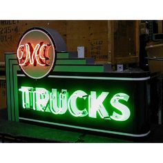 GMC Truck Vintage Dealer Neon Sign