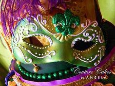 edible mardi gras mask