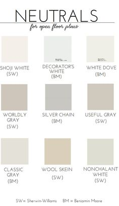 Choosing #Paint For An Open Floor Plan (Neutral #Paint Colors Is there one that you have used and really recommend? www.homestylingstaging.com