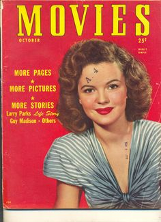 Movie Magazine - Movies 10/47 Shirley Temple cover