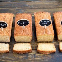 Ik bakte vier cakes met verschillende vetstoffen? Benieuwd naar dehellip