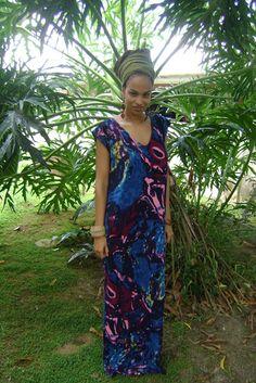 Rasta Wife Line: How to Sew a Kaftan Dress or Gown