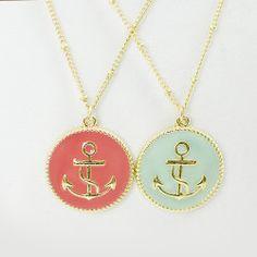 anchor necklaces