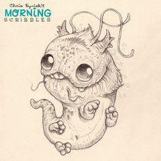 Dragon pup #morningscribbles   출처: CHRIS RYNIAK