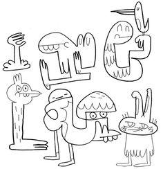 Illustrator: Jon Burgerman Project: New Characters Date