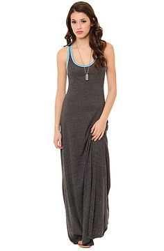 Alternative Apparel Dress Sport Ringer Racerback Maxi Dress in Eco True Vintage Black.....would look good with some Sky High Dunks that match