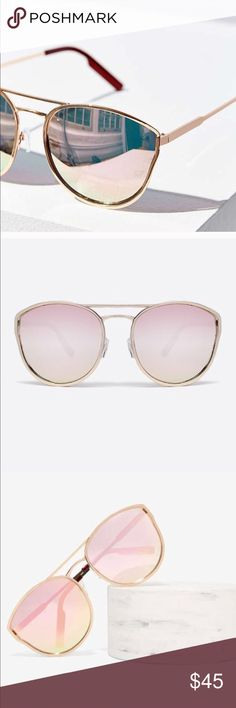 Quay Cherry Bomb Sunglasses    Rose Gold QUAY AUSTRALIA Cherry Bomb - Fashion Sunglasses : Rose Gold/Pink Mirror : Rock these bad boys for an edgy look any day! Nickel free metal frame. Stainless steel hinges. Brand detailing on lens. Polycarbonate, cat 3 lens. 100% UV protection.  Worn a few times Quay Australia Accessories Sunglasses