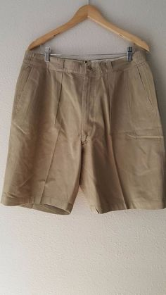 Khaki Uniform Shorts Size 38 Cotton Vintage 50s 8405-292-9375 Twill Military